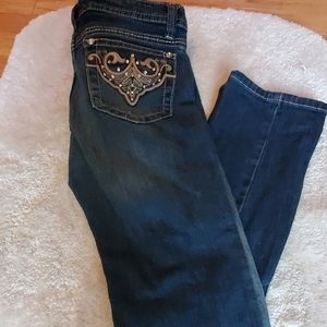 A.N.A straight leg embellished Jean
